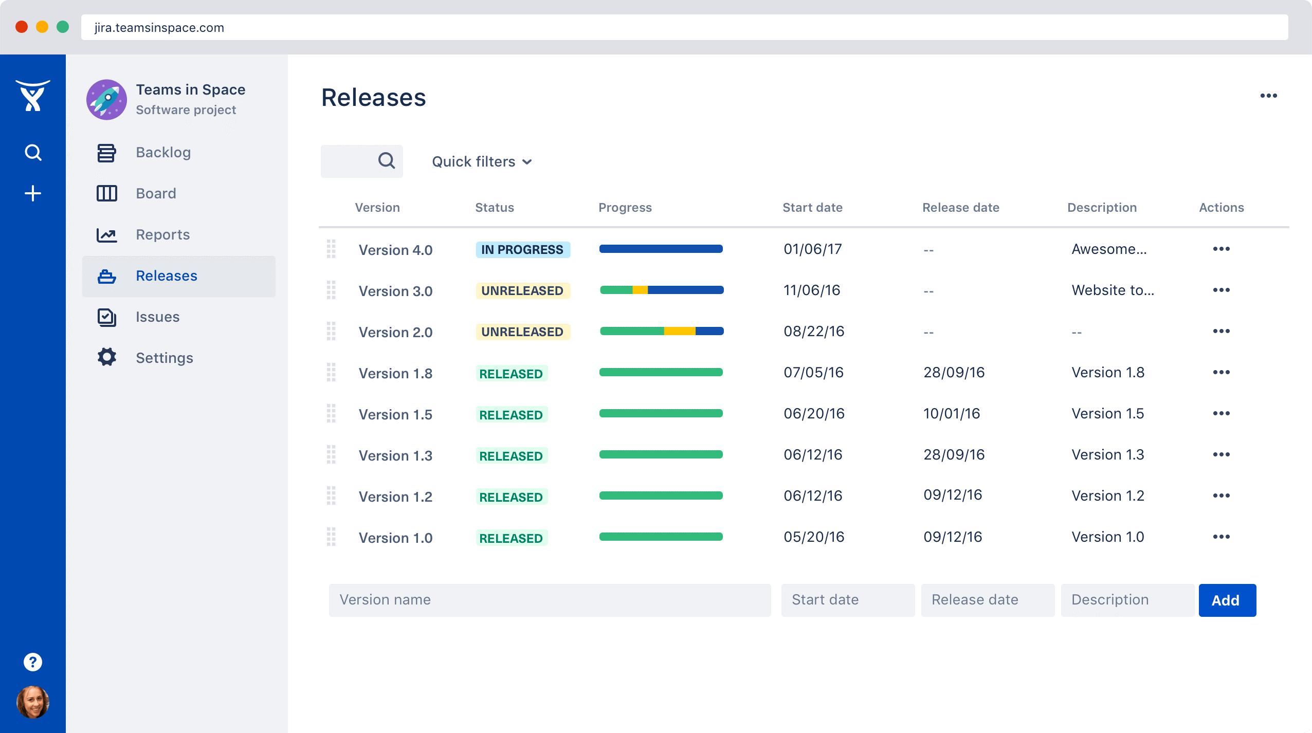 Release feature of Jira