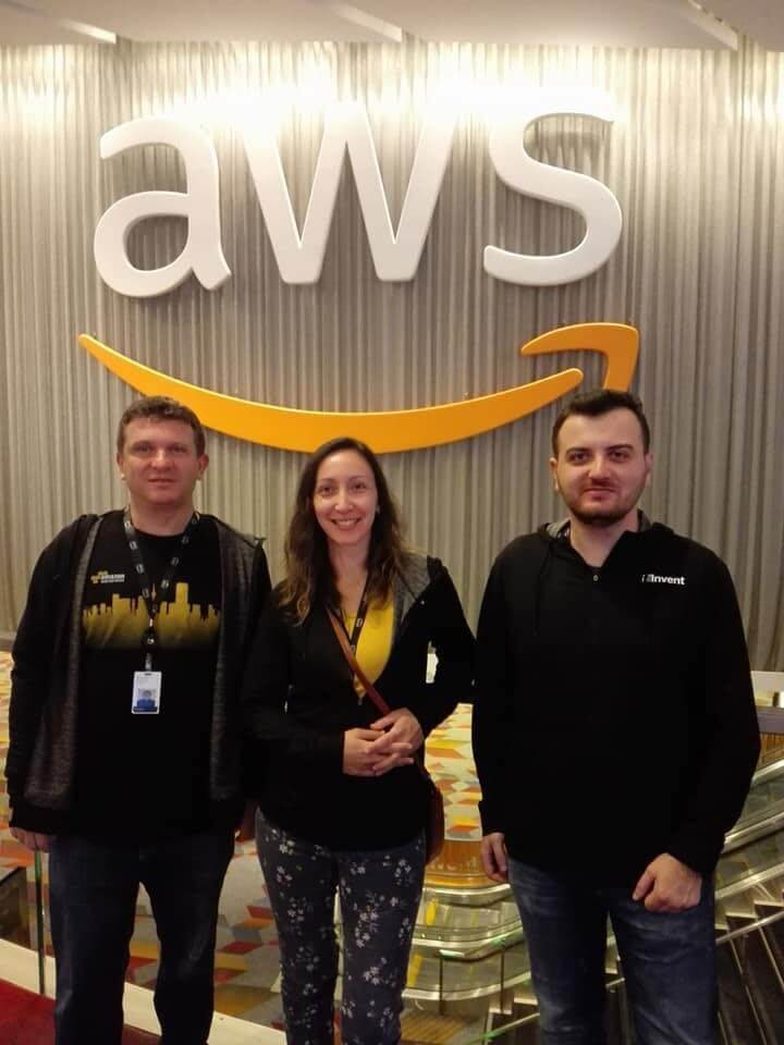 Our employees at re:Invent, largest annual AWS conference